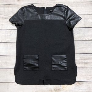 Ann Taylor Leather Charcoal Tunic